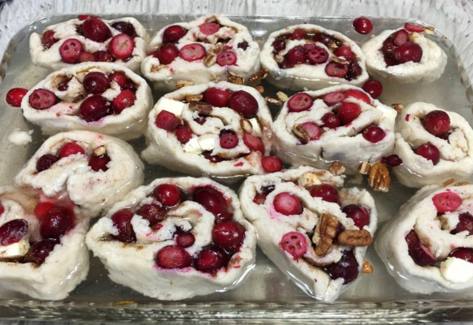 frozen cranberries, dessert, holiday baking, cobbler roll, cape cod select