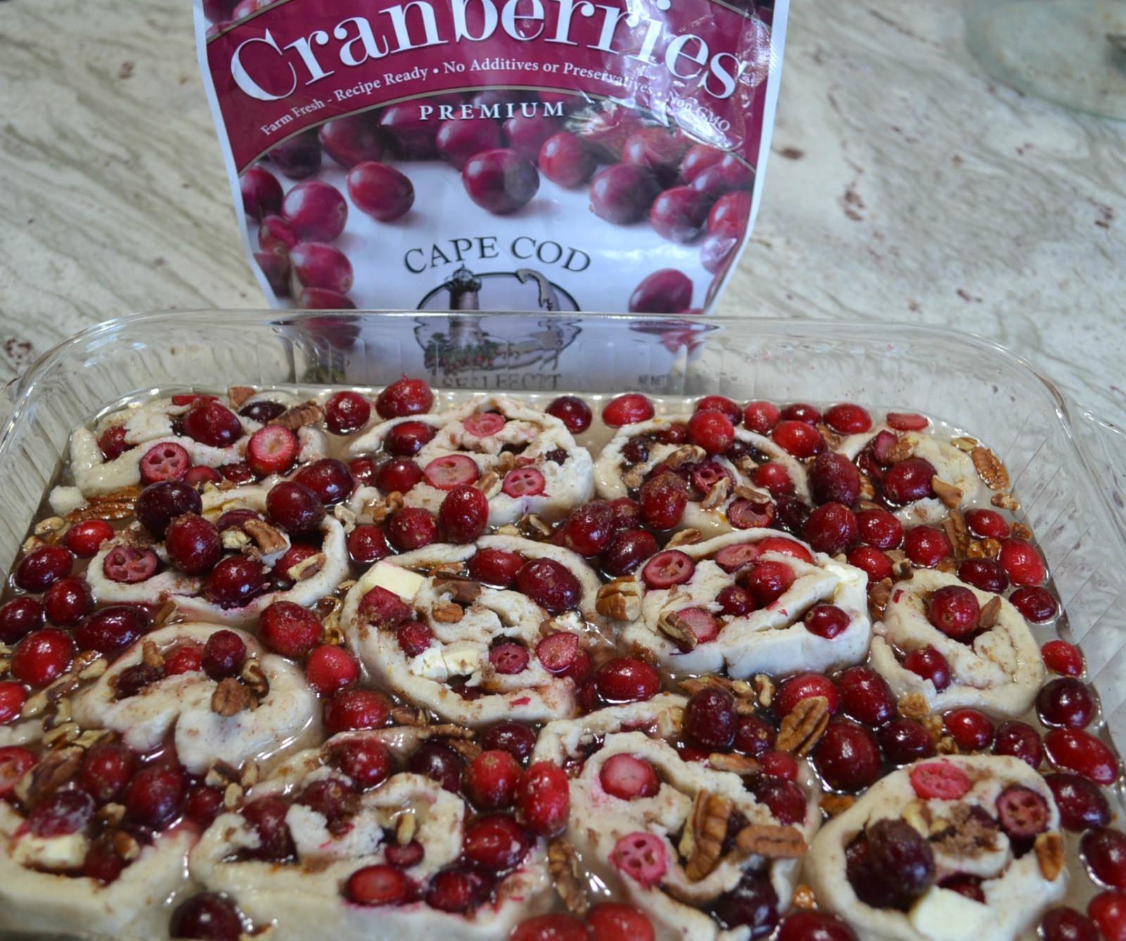 cape cod select, frozen cranberries, dessert, holiday baking, cobbler roll