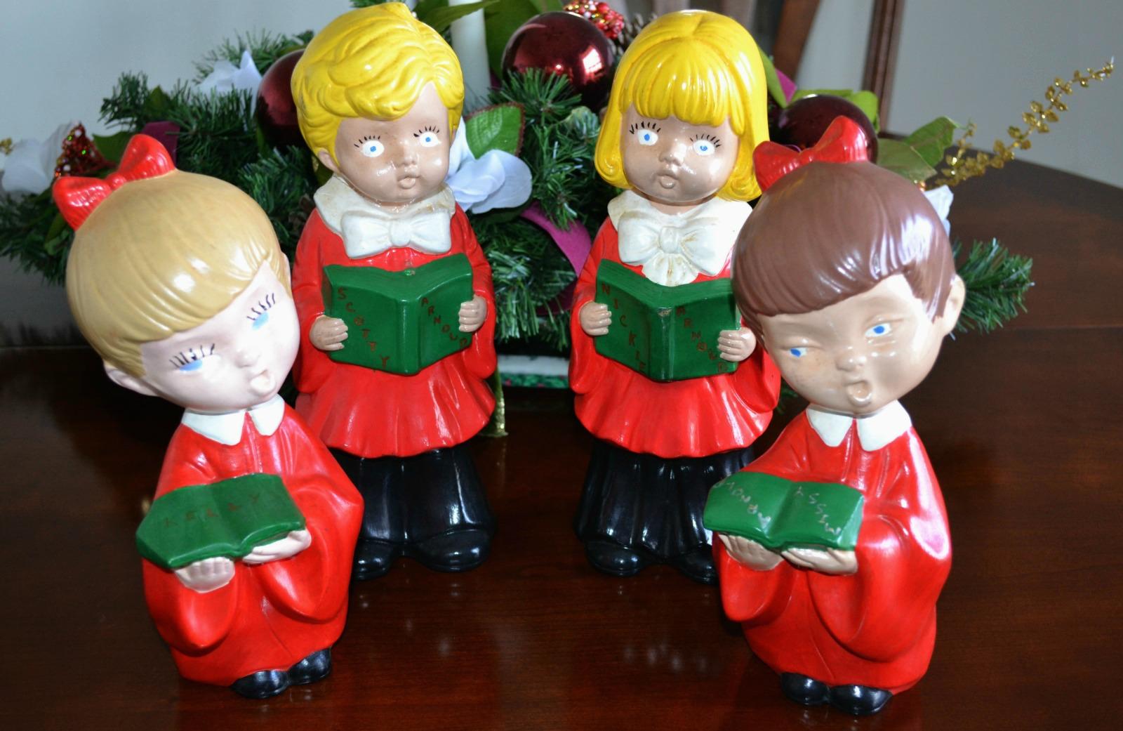 christmas decorations, carolers