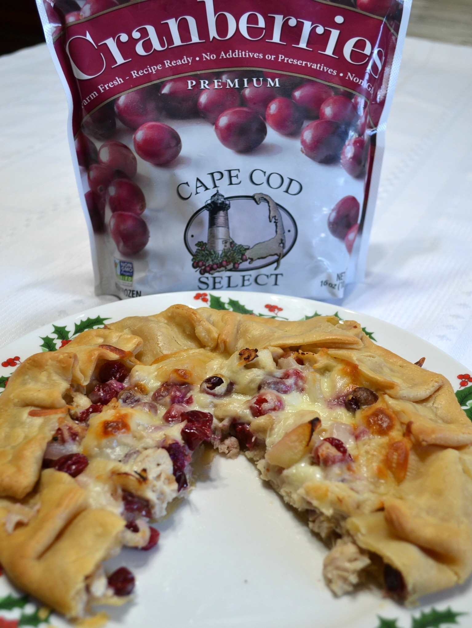 A savory recipe using Cape Cod Select Premium Frozen Cranberries for the holiday blogger challenge.