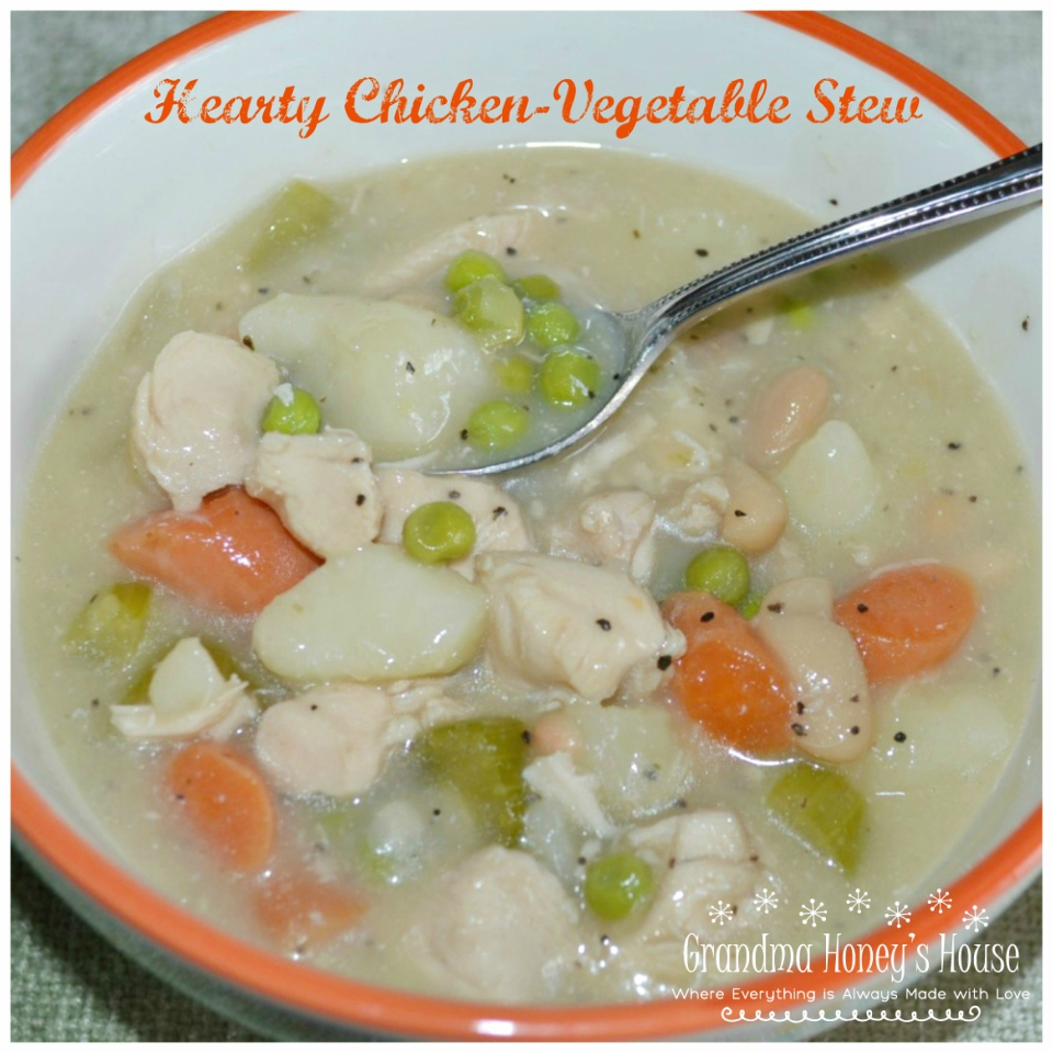 This Hearty-Chicken-Vegetable-Stew is packed with healthy ingredients, delicious, and will keep you warm on a cold winter's day.