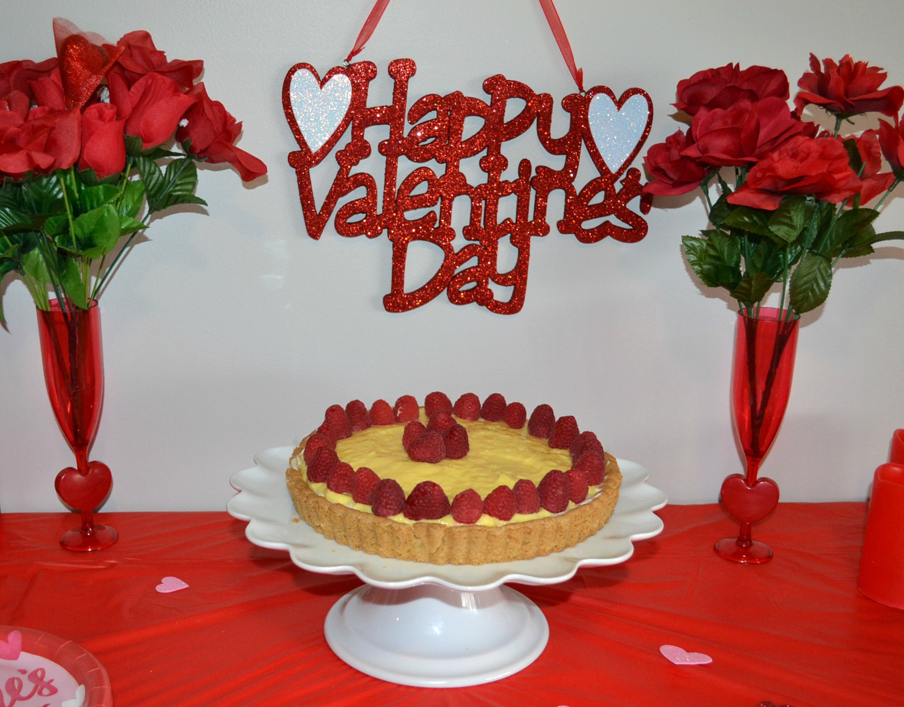 Raspberry Mascarpone Coconut Cream tart is an easy, elegant dessert to serve to your Valentine.