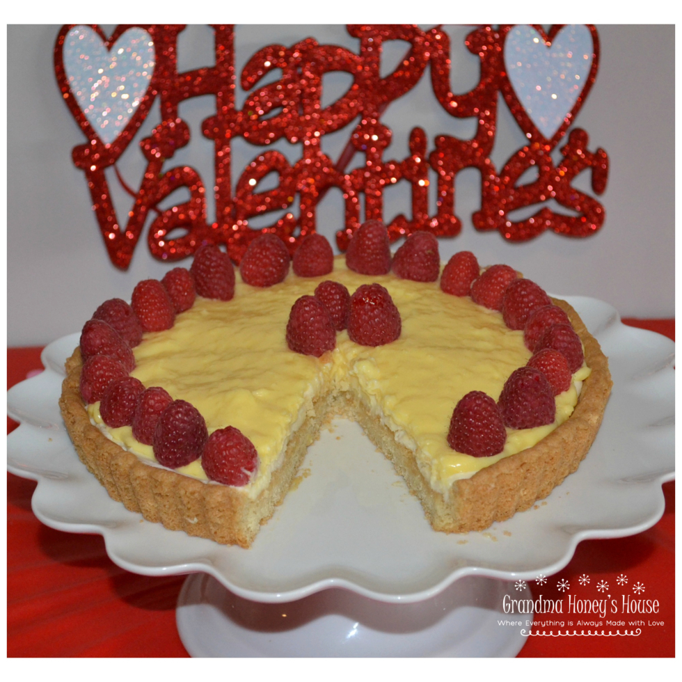 Raspberry Mascarpone Coconut Cream tart is an easy, elegant dessert to serve to your Valentine.