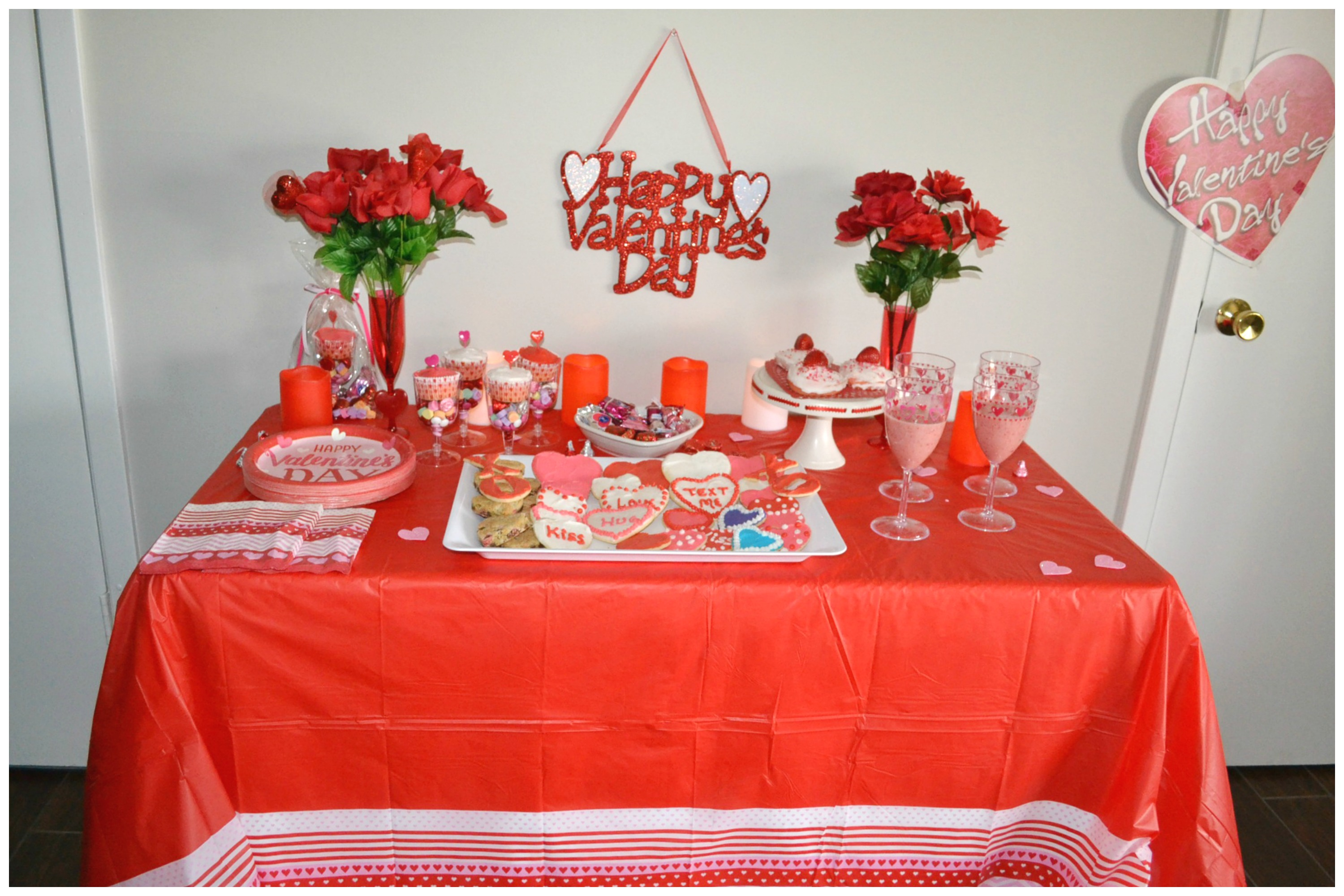 Valentine's Day ideas, inexpensive decorating, and sweet treats.