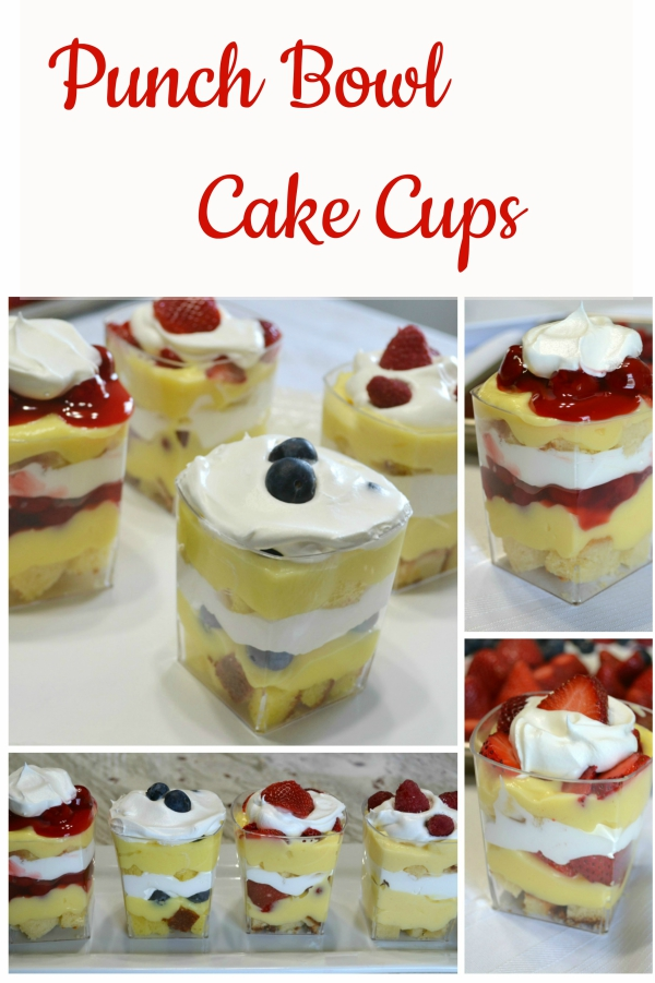 Punch Bowl Cake Cups are a delicious variation to the original punch bowl cake. Made in parfait cups for an easier dessert to enjoy.