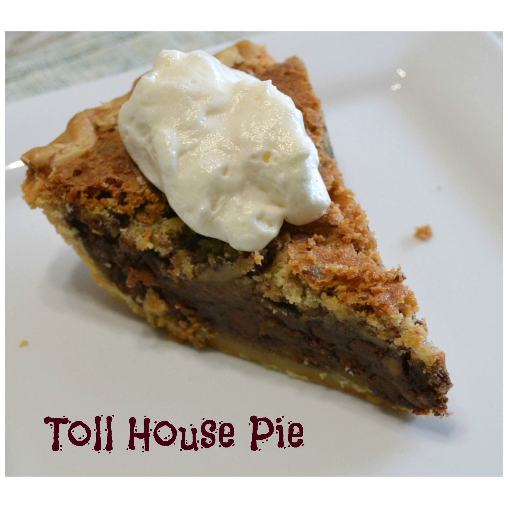 This Toll House Pie is a delicious and easy to make retro dessert.