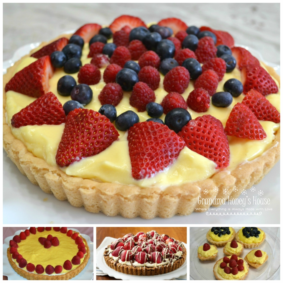 A collection of tarts, tartlets and other easy summertime desserts.