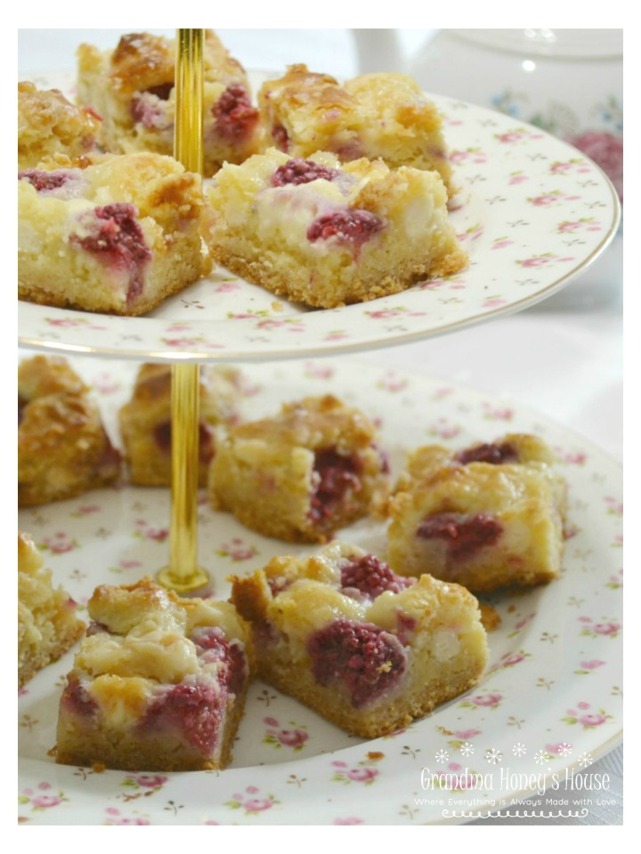Raspberry White Chocolate Bars are a decadent, easy to make summertime dessert.
