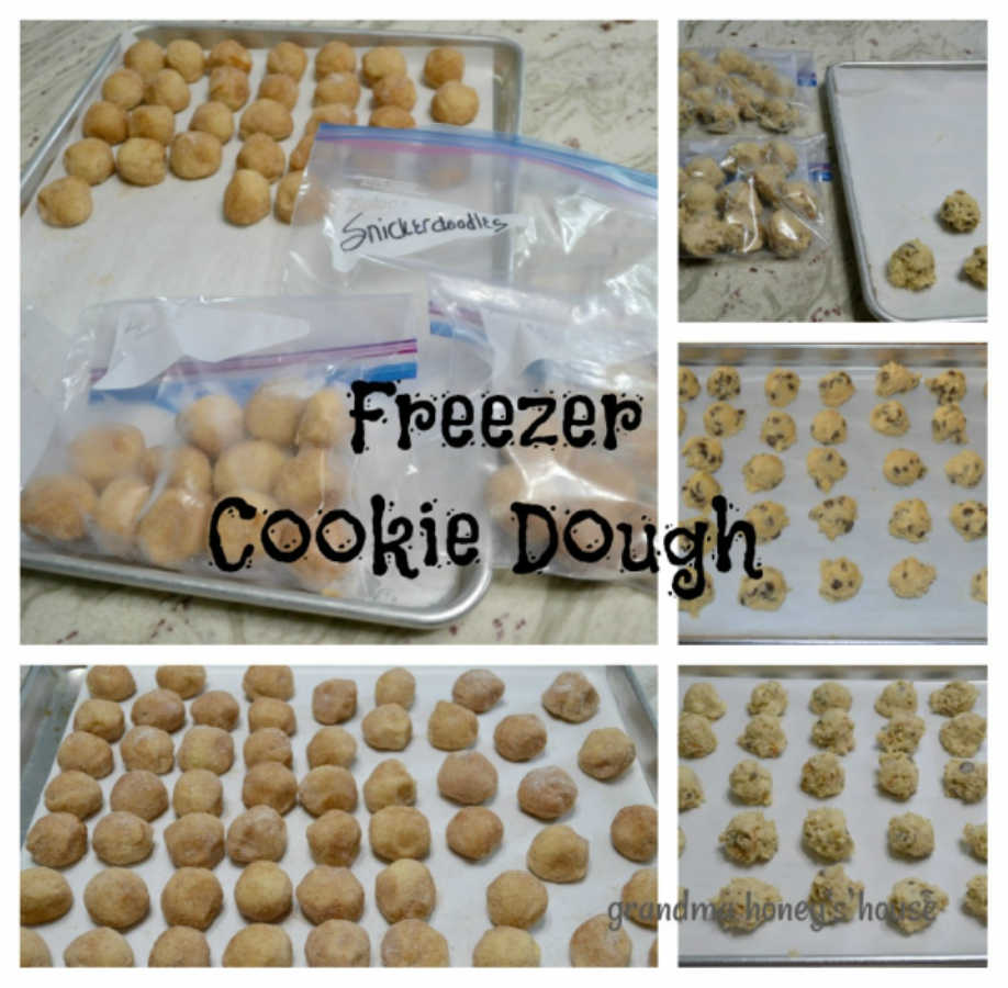Preparing freezer cookie dough balls ahead of time allows you to bake fresh, homemade cookies in minutes with no mess.