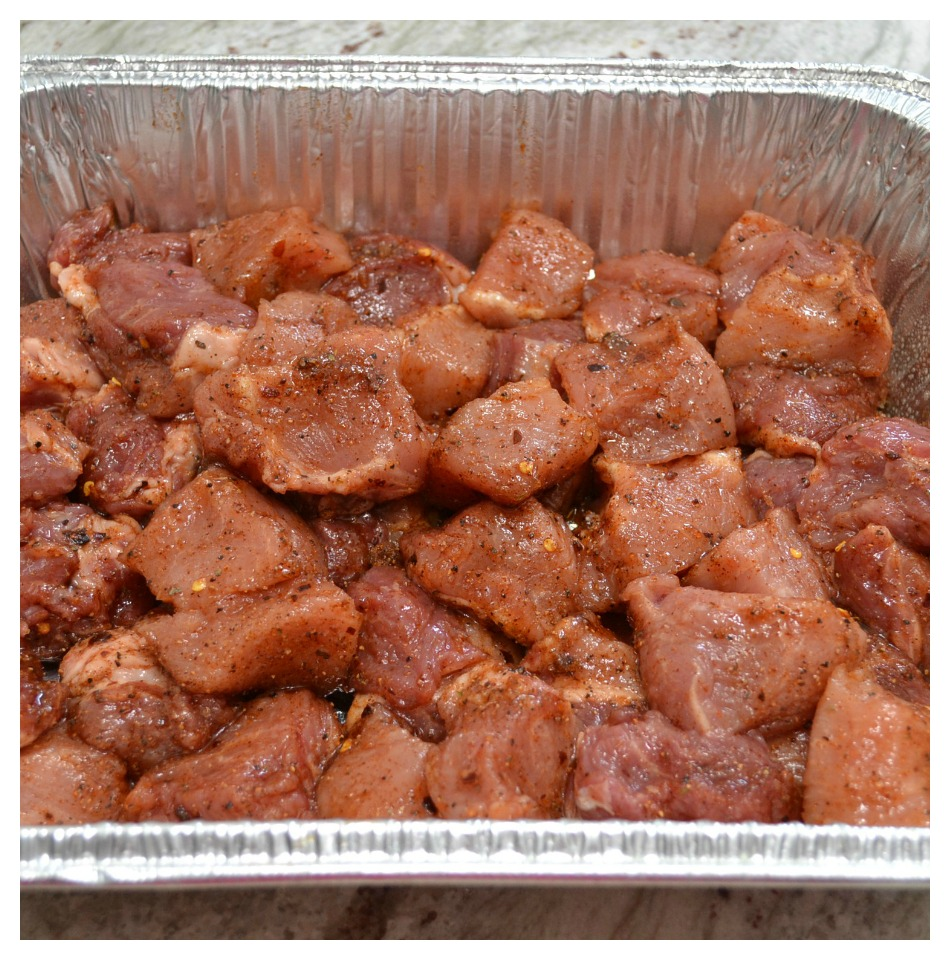 Moist, tender, BBQ Baby Back Riblets rubbed with a homemade rub, and simmered in homemade BBQ sauce.