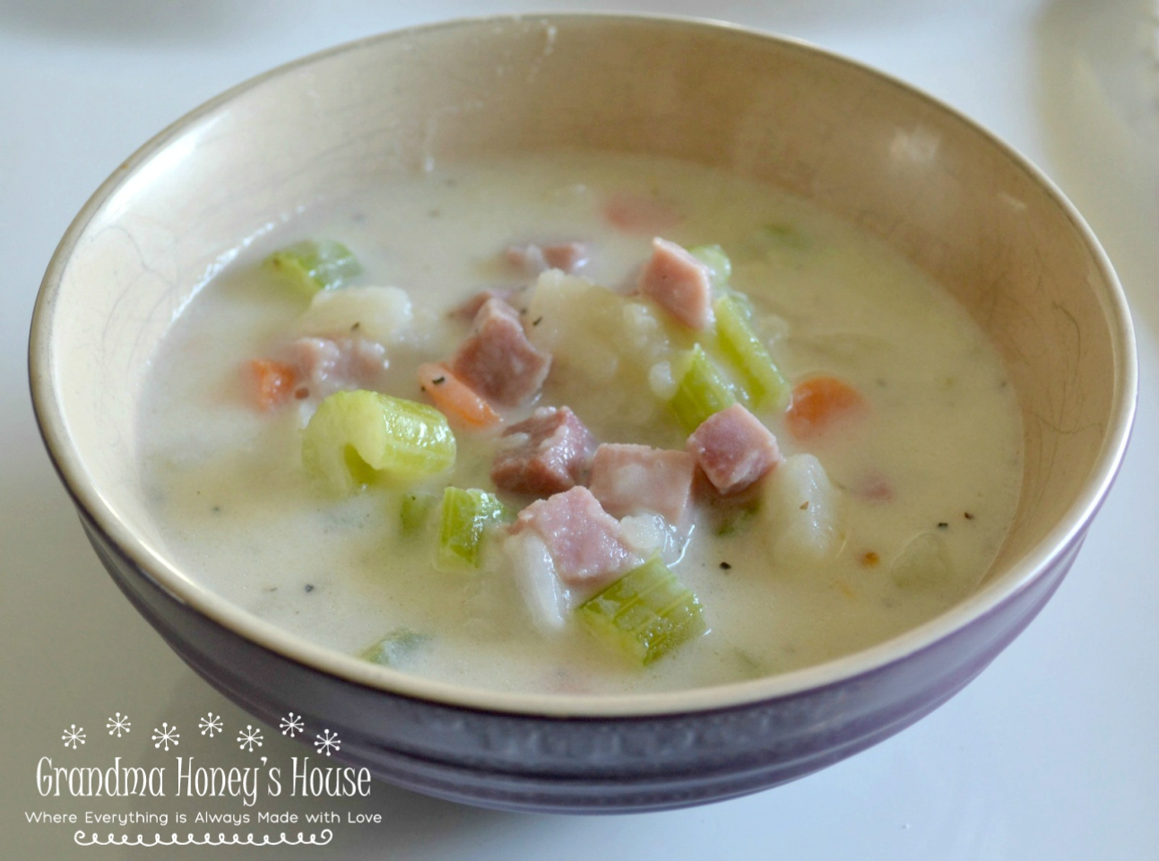 Potato soup recipes that are family favorites. Loaded baked potato or old fashioned potato & ham.