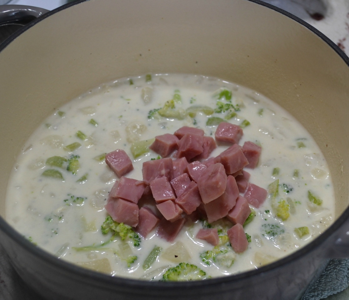 Great recipe for Potato Ham Broccoli Cheddar Soup to enjoy on cold winter days