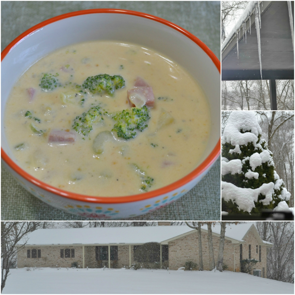 Great recipe for Potato Ham Broccoli Cheddar Soup to enjoy on cold winter days.