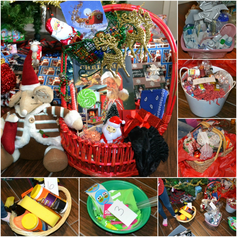 The Christmas Basket Game is a fun tradition of creating themed baskets.