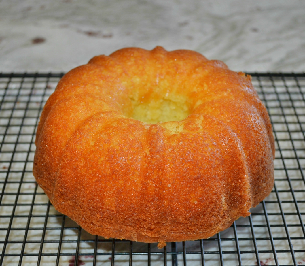 Saffron Orange Custard Bundt Cake for 2 is a scaled down cake perfect for any special occassion.