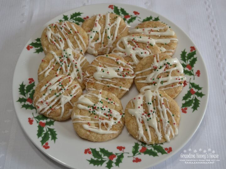 Sugar Plum Dreams are a soft butter cookie infused with the unique flavor of Fiori Di Sicilia extract and cooked plums, then rolled in cinnamon sugar and baked. Add a drizzle