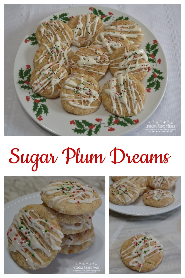 Sugar Plum Dreams are a soft butter cookie infused with the unique flavor of Fiori Di Sicilia extract and cooked plums, then rolled in cinnamon sugar and baked. Add a drizzle of mascarpone cheese
